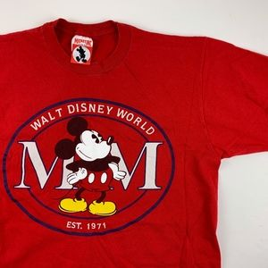 Vintage Mickey Inc Disney Mickey Mouse Red T-Shirt